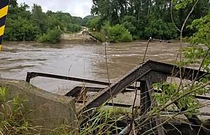 Frey Bridge.  Photo from Fayette Co. Sheriff